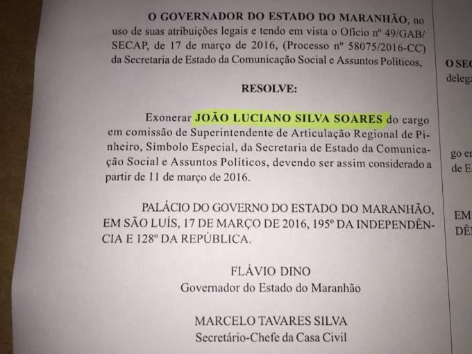 Exoneração de Luciano