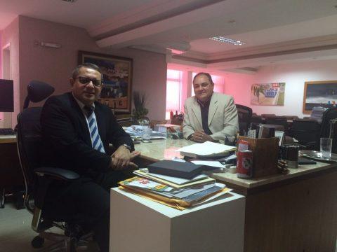 Vice-prefeito de São Bento, Isaac Dias Filho (PTN), com o presidente do Tribunal Regional do Trabalho do Maranhão, James Magno.