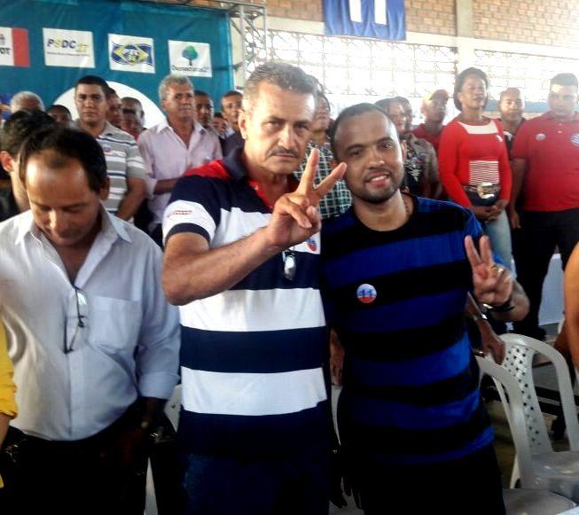 Jorge Garcia (PP) candidato a prefeito do município de Palmeirândia, e Edilson da Alvorada (PMN) vice.