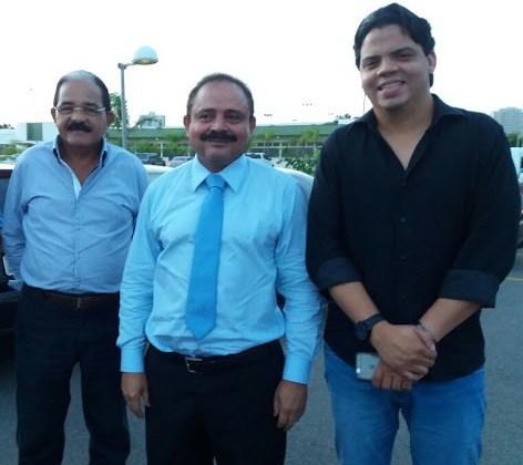 Waldir Maranhão ao lado de Genésio pai e Genésio Filho.