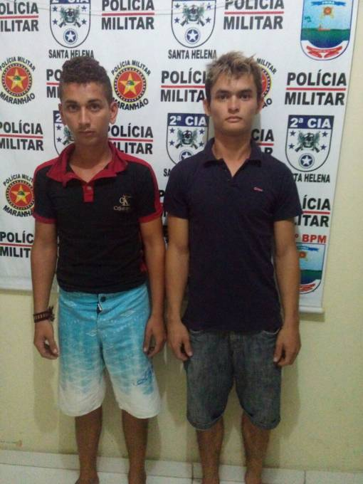 Taylor Rodrigues Sousa e Adriano Braga, assaltantes.