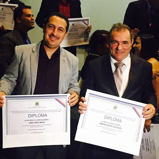 Prefeito, Raimundo Antônio (PR) e o vice Jorge Lobato (PCdoB).