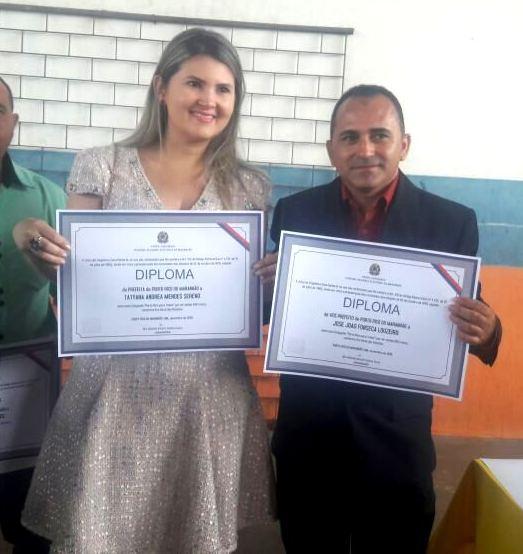 Porto Rico do MA: A Dra. Tatyana Mendes (PCdoB) foi diplomada prefeita, João Louzeiro (PSDB) vice-prefeito.