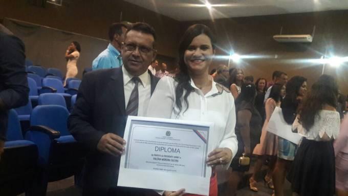 Prefeita eleita Valeria Castro, ao lado do esposo, o ex-deputado, Penaldon Jorge.