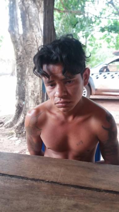 Ernande Silva Melo 23 anos, foi preso pela Policia e confessou o crime.