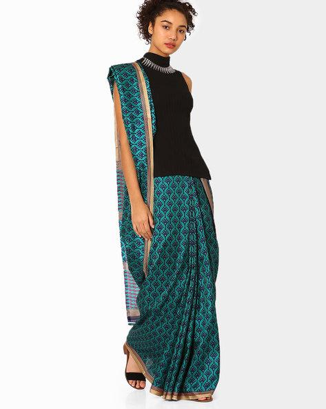 https://www.ajio.com/florence-malbari-silk-printed-saree/p/460057319_blue