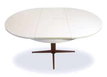 Ronde eetkamertafel uitschuifbaar ronde tafel wit uitschuifbaar
