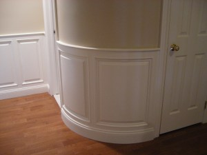 curved wainscotting