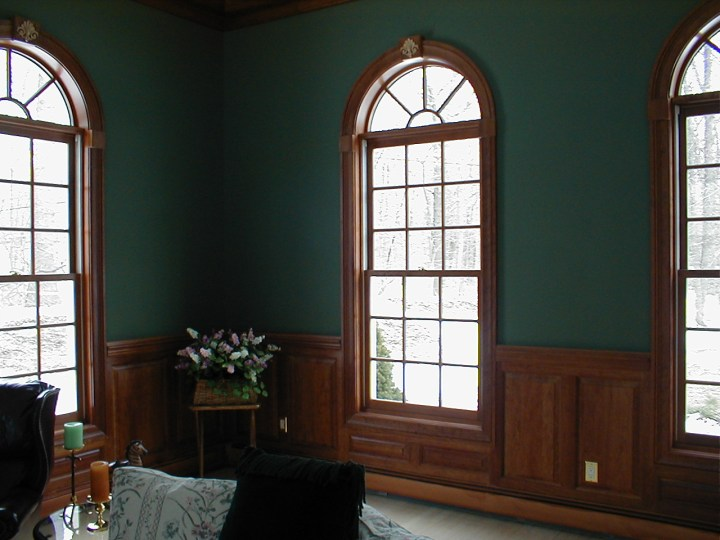 curved molding and wood trim