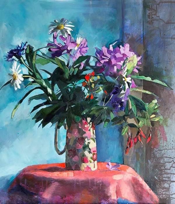 Floral jug by Aine Divine