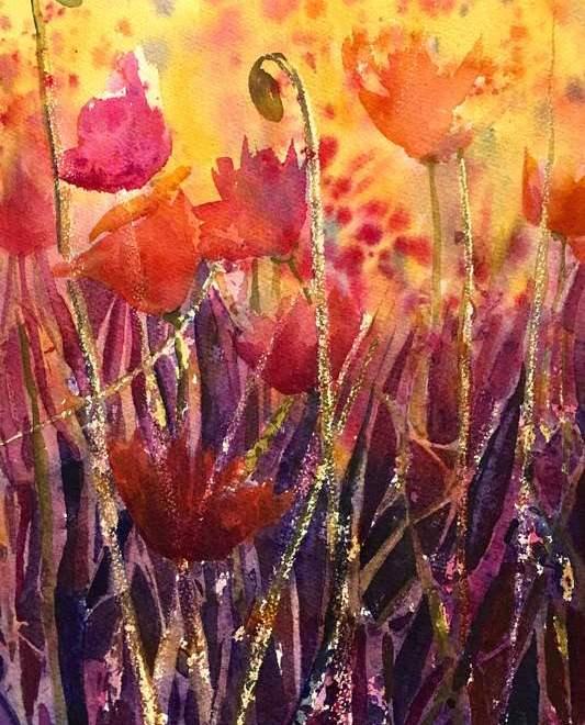 Georgia Mansur watercolour flowers