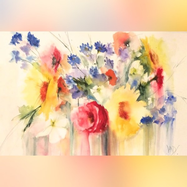 Paintings filled with joy, energy and colour