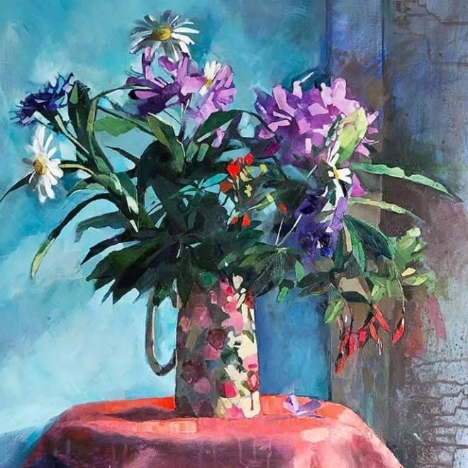 Aine Divine mixed media Flowers