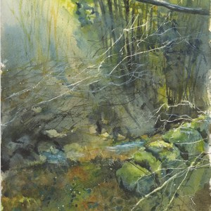 Old Stone Wall - Original Watercolour by Vandy Massey