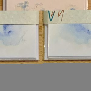 Packs of 5 notelets printed with images from original watercolours by Vandy Massey - Image: At Dawn