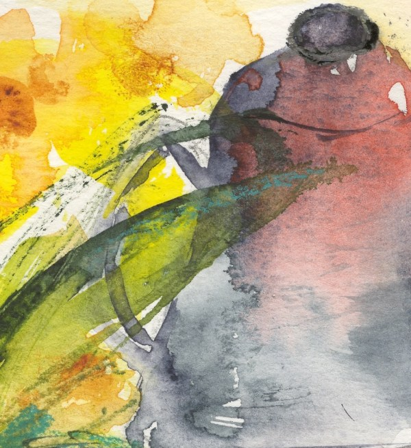 VMW00218 - Morning Coffee/ Watercolour on paper by Vandy Massey. Detail 2