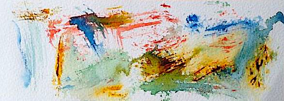 Why take a painting workshop - image of mark making in watercolour