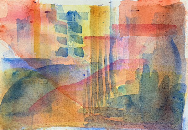 How to layer in watercolours