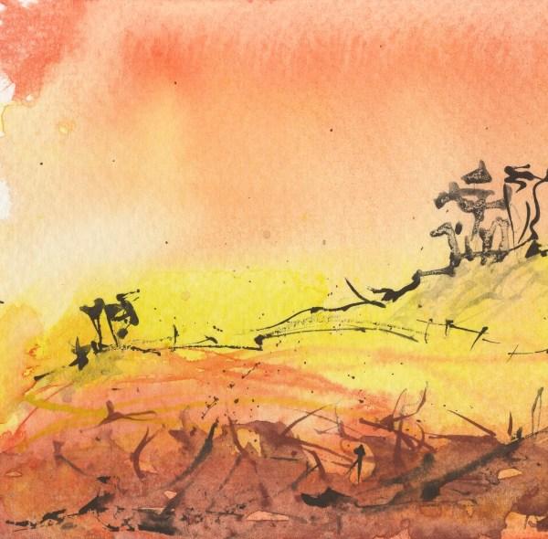 Little Landscapes - Kalahari Dawn