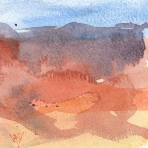 Shelf Painting - Red Earth
