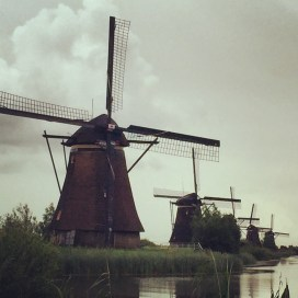 The windmills at Kinderdijk.