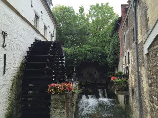 We found this water wheel hidden in the backstreets of Maastricht.