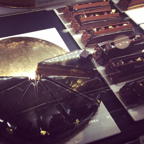 I indulged in that slice of chocolate heaven on the right-hand side.