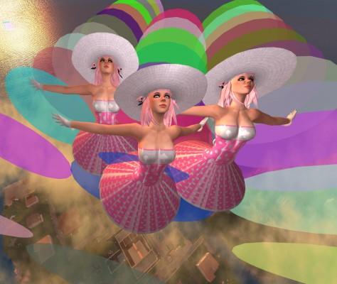 color photograph of performance artwork VB02 - Peggy Sue