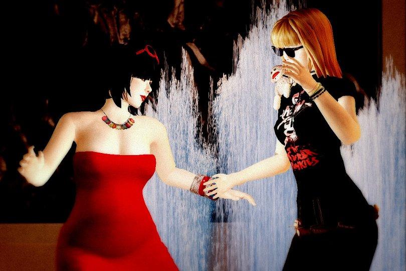 "Vanessa Blaylock & Bibbe Oh dancing in ""Dance Anywhere"""