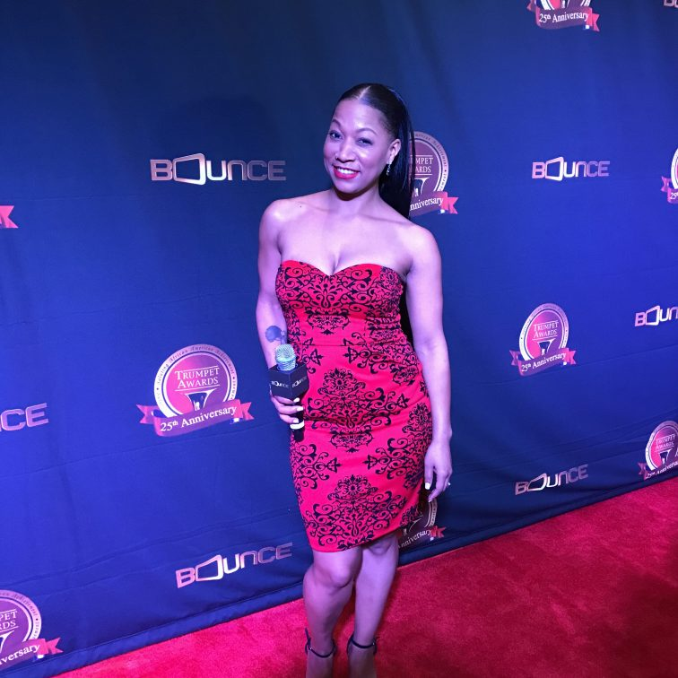 Vanessa Fraction Trumpet Awards Red Carpet