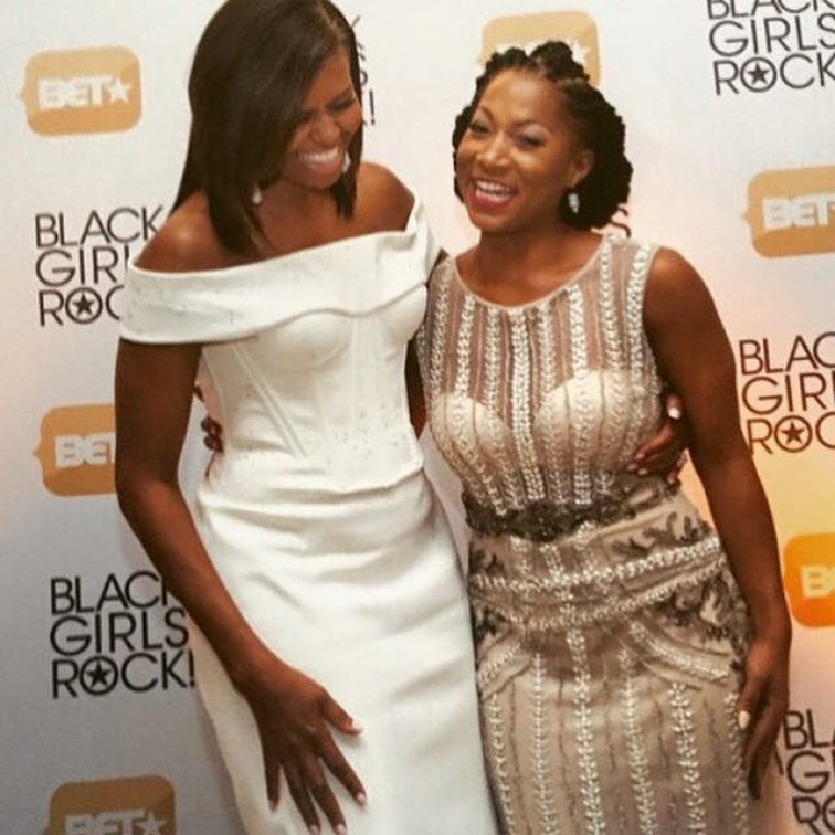 Vanessa honored to share a laugh with First Lady, Michelle Obama at the 2015 Black Girls Rock Awards