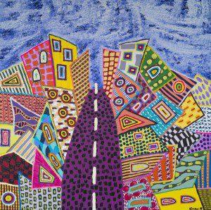 Mixed media on canvas, 100x100cm, 2015