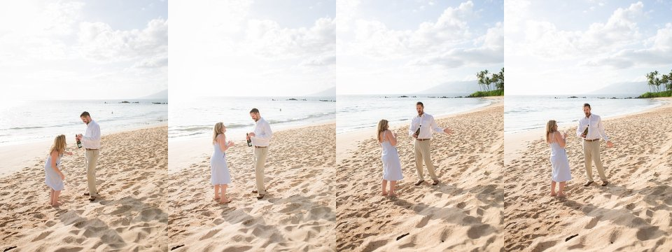 maui beach engagement session