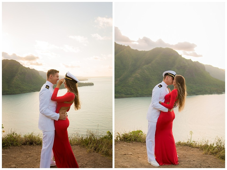 crouching lion hike engagement session