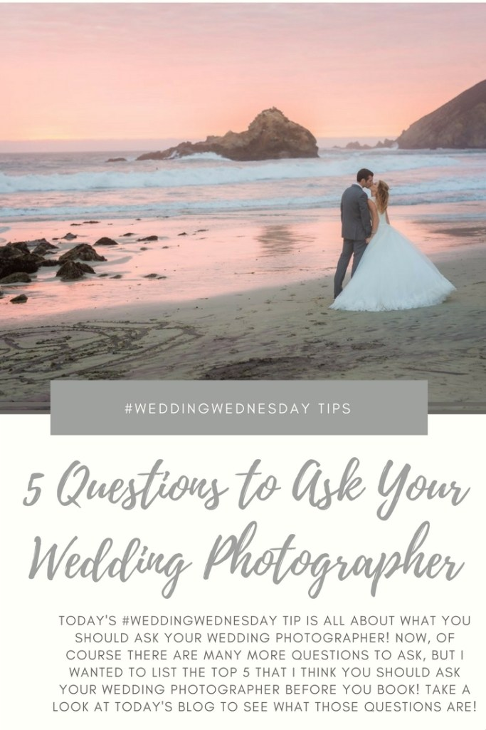 5 Questions To Ask Your Wedding Photographer Before Your Book