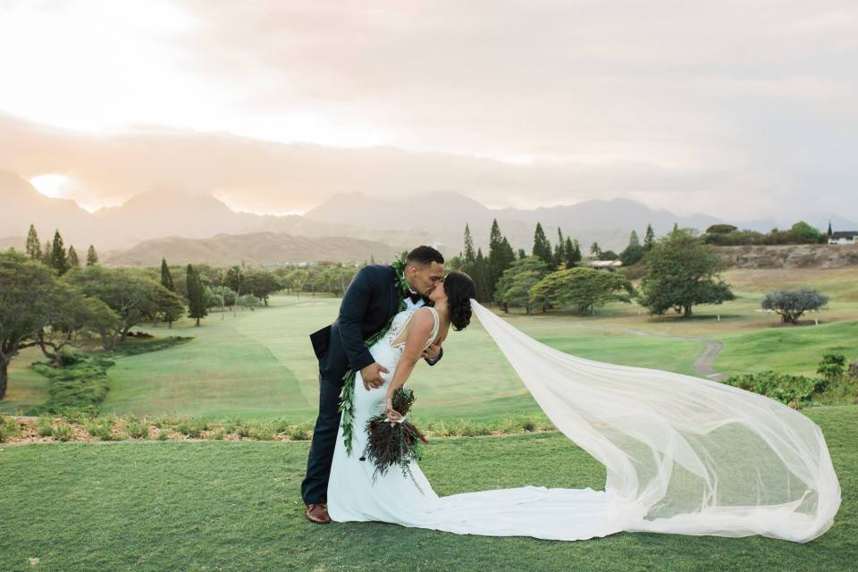 Golf Course Wedding in Hawaii
