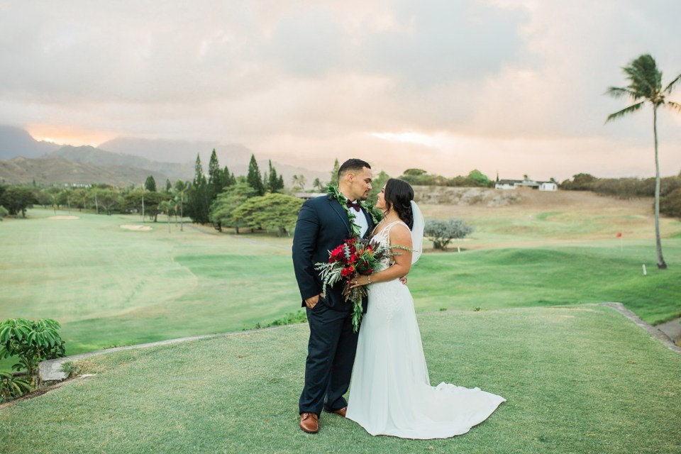 Wedding at Mid Country Pacific Golf Course Hawaii