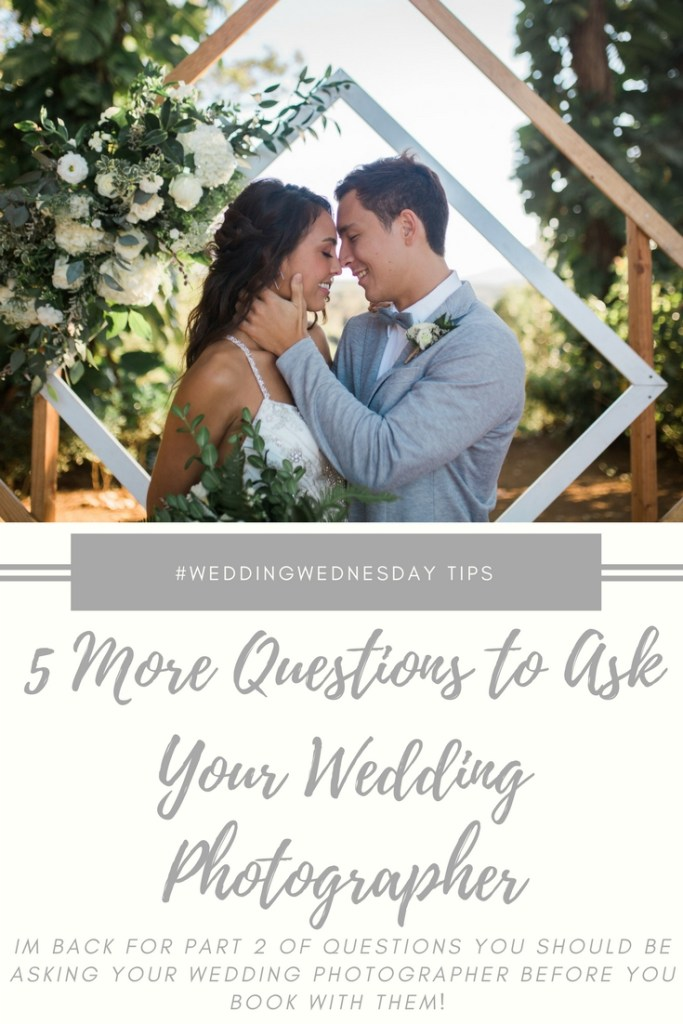 5 Questions to Ask Your Wedding Photographer before you book