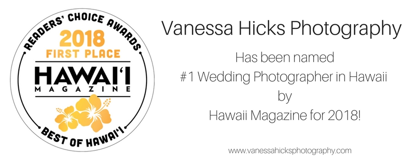 Voted #1 Wedding Photographer In Hawaii by Hawaii Magazine | Hawaii Wedding Photographer