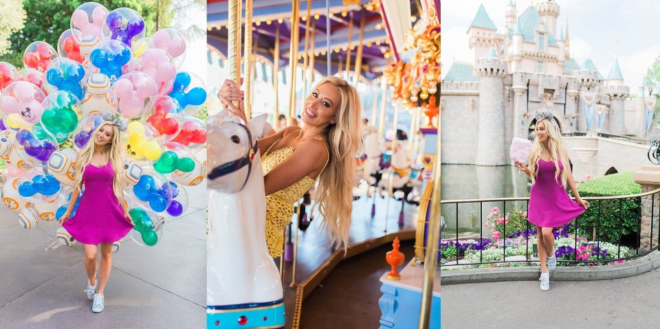 Photoshoot at Disneyland ballons