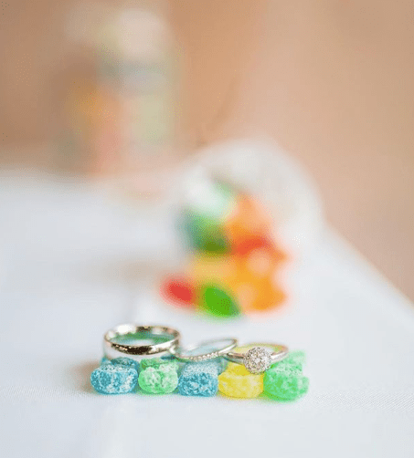 Creative Ring Shot with Candy