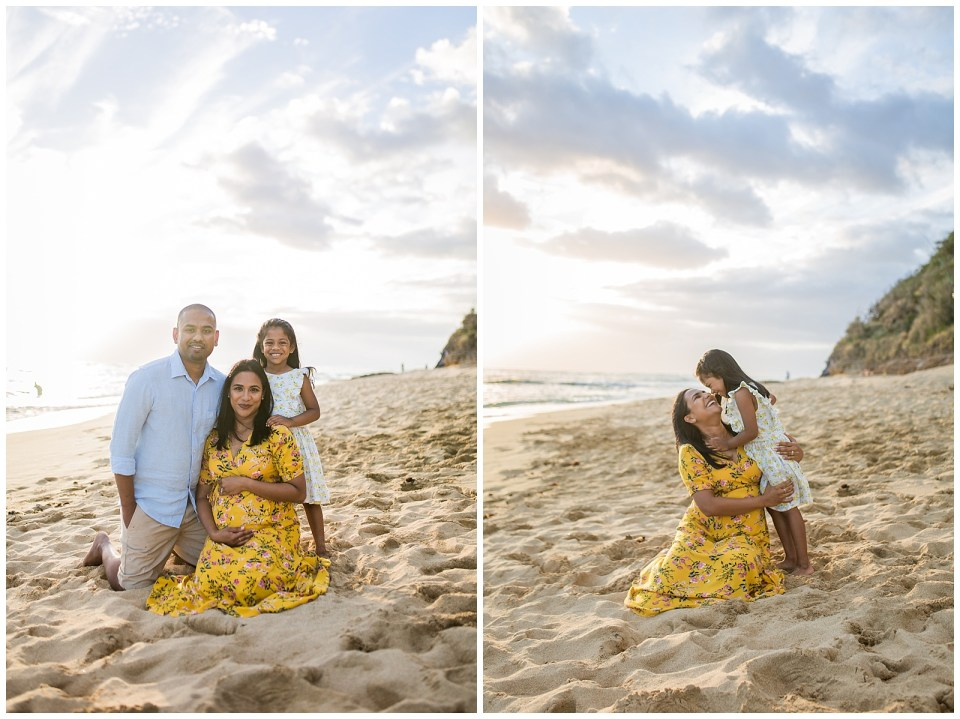 Hawaii Beach Family Session at Sunset Vanessa Hicks PHotography