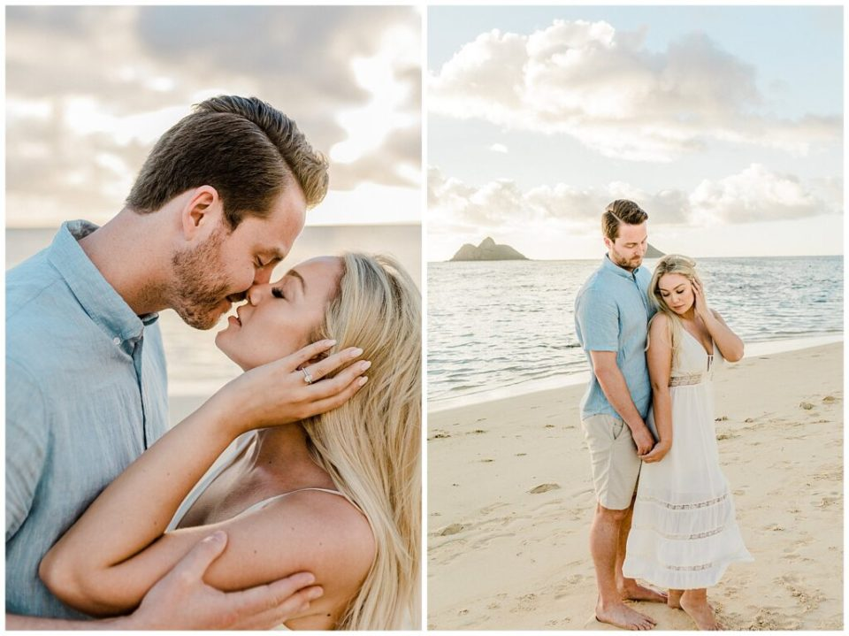 Beautiful Sunrise Engagement Session in Hawaii photographed by Vanessa Hicks Photography