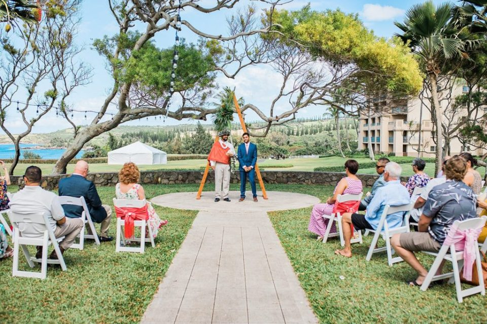 steeple house wedding ceremony in Maui