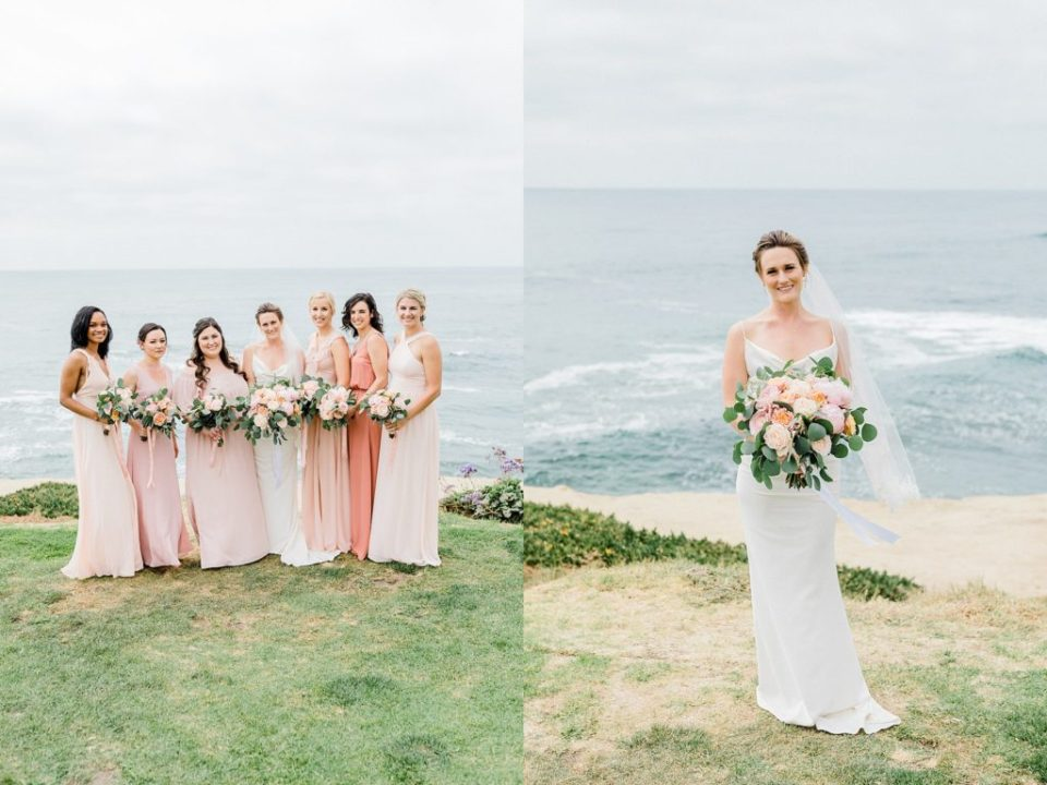 Bridal party images in San Diego