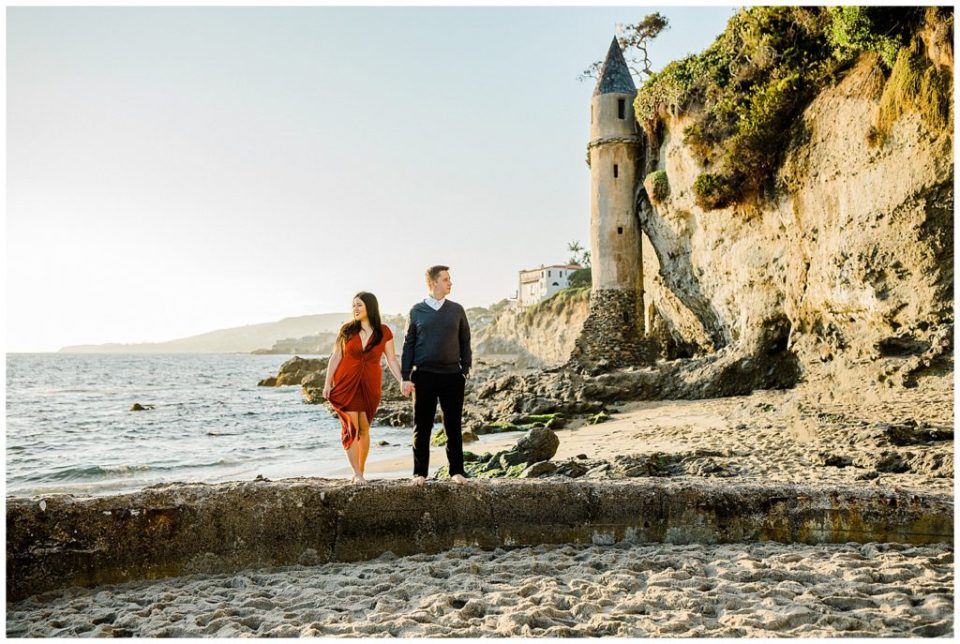 engagement session at victoria beach in california
