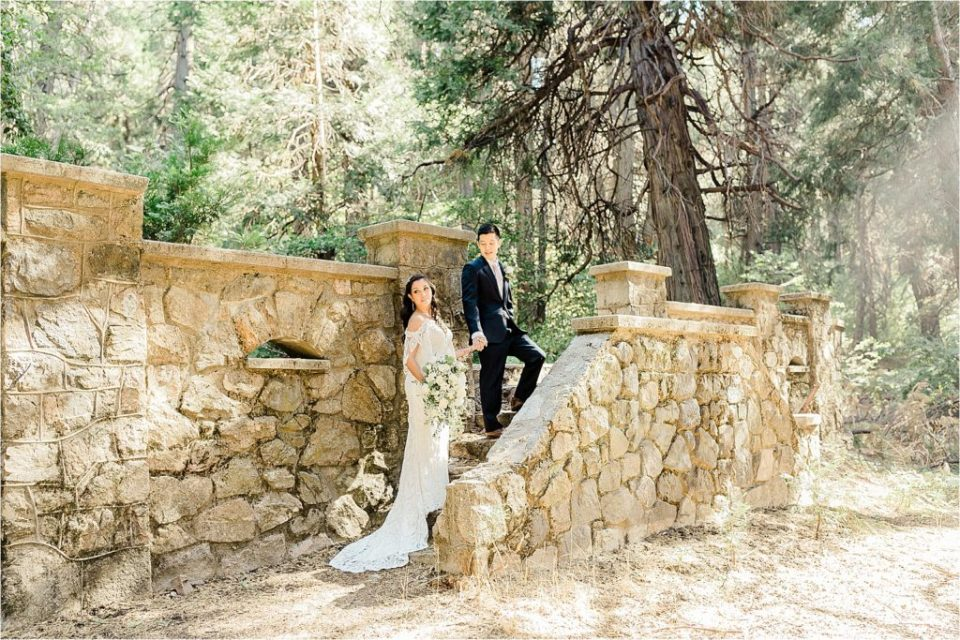 enchanted castle wedding in forest