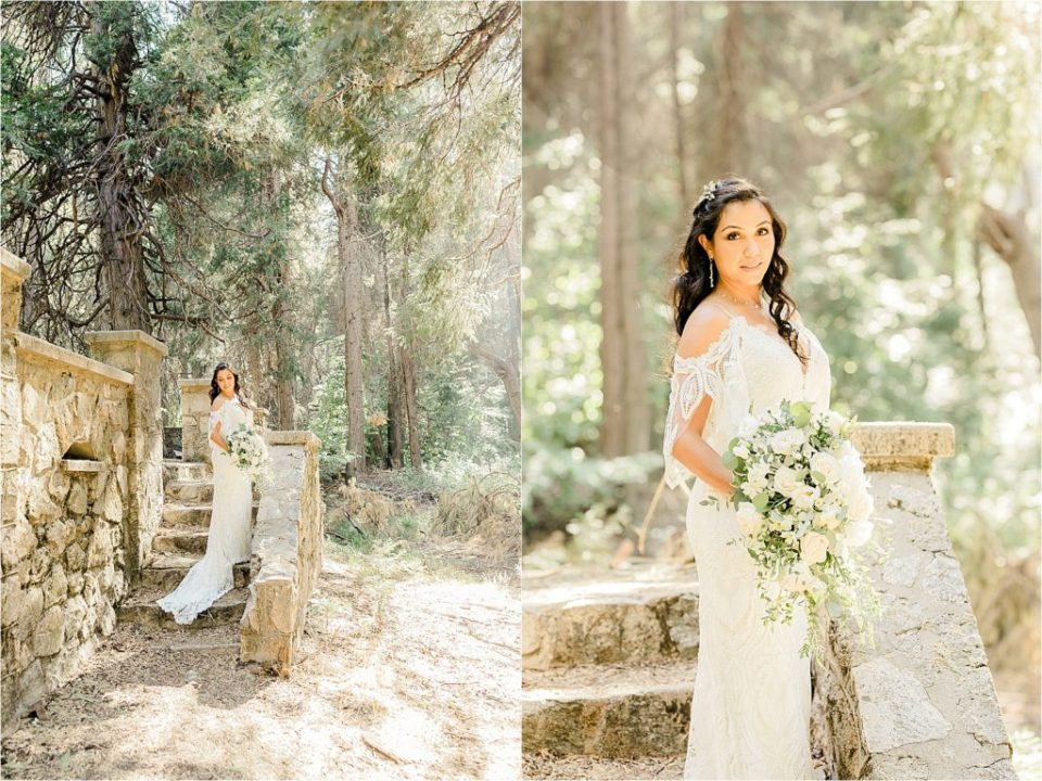 enchanting bridal portraits in forest
