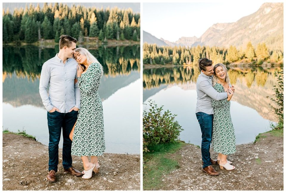 couple together for engagement photos