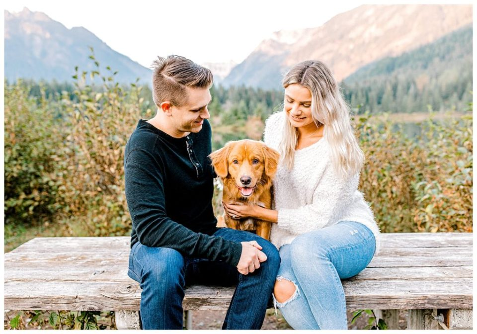 engagement session with puppy in seattle